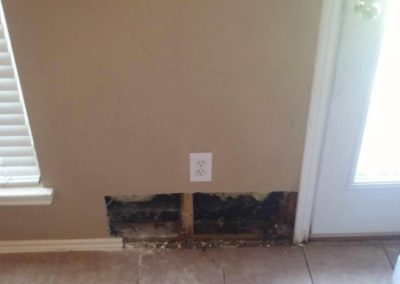 Wall picture before drywall repair