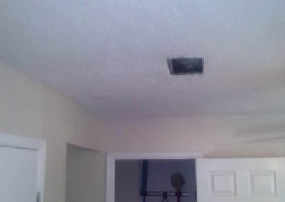 Ceiling drywall repair after picture