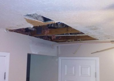 Ceiling damage before picture